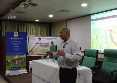 SPEAKER MEET on MANAGEMENT IN THE CURRENT BUSINESS SCENARIO By Mr. Achal Rangaswamy at CIMS Auditorium with the corroboration of Rotary Club of Ahmedabad Supreme held on 27th April, 2018